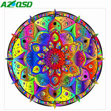 AZQSD Diamond Painting Mandala Diamond Embroidery Abstract Flowers Home Decoration Rhinestones Pictures Cross Stitch Full Kits(China)