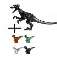 5Pcs Jurassic Welt 2 Bausteine Dinosaurier Zahlen Bricks Tyrannosaurus Rex Indominus Rex ICH-Rex Montieren Kinder Spielzeug
