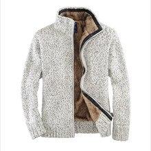 Männer Herbst Und Winter Verdicken Wolle Liner Pullover Offwhite Männlichen Strickjacke Mit Reißverschlüssen Herrenrollkragen Pullover Wt91088