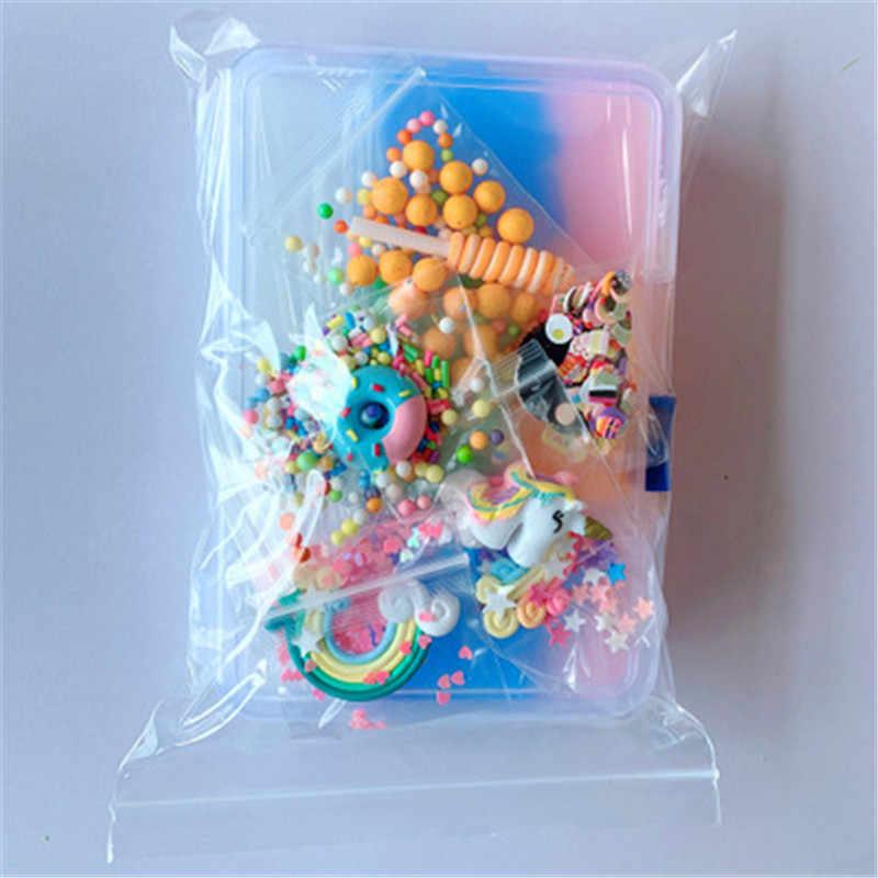 ユニコーンスライムキット海スライム作る Diy 手作り色の泡ボール顆粒スライム作る材料セット