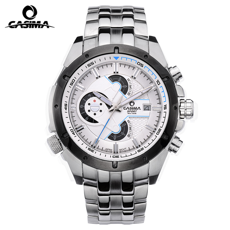 Relogio Masculino CASIMA Military Diver Watch Men Chronograph Sport Quartz Wrist Watch Calendar Clock Man 2017 Saat Montre Homme montre homme casima sport watch men waterproof silicone band week date quartz wrist watch dual time clock saat relogio masculino