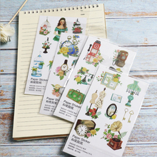 1pcs/lot Time memory Paper sticker DIY decoration sealed envelope Scrapbooking Sticker Stationery kawaii label stickers