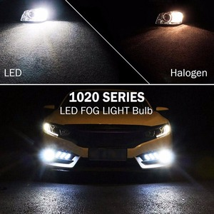 Image 5 - VANSSI 1400 Lumens Extremely Bright 1020 Chips 9006 HB4 H10 9140 9145 H16 H11 H8 LED Fog Light Bulbs, 6000K White,2 Pieces