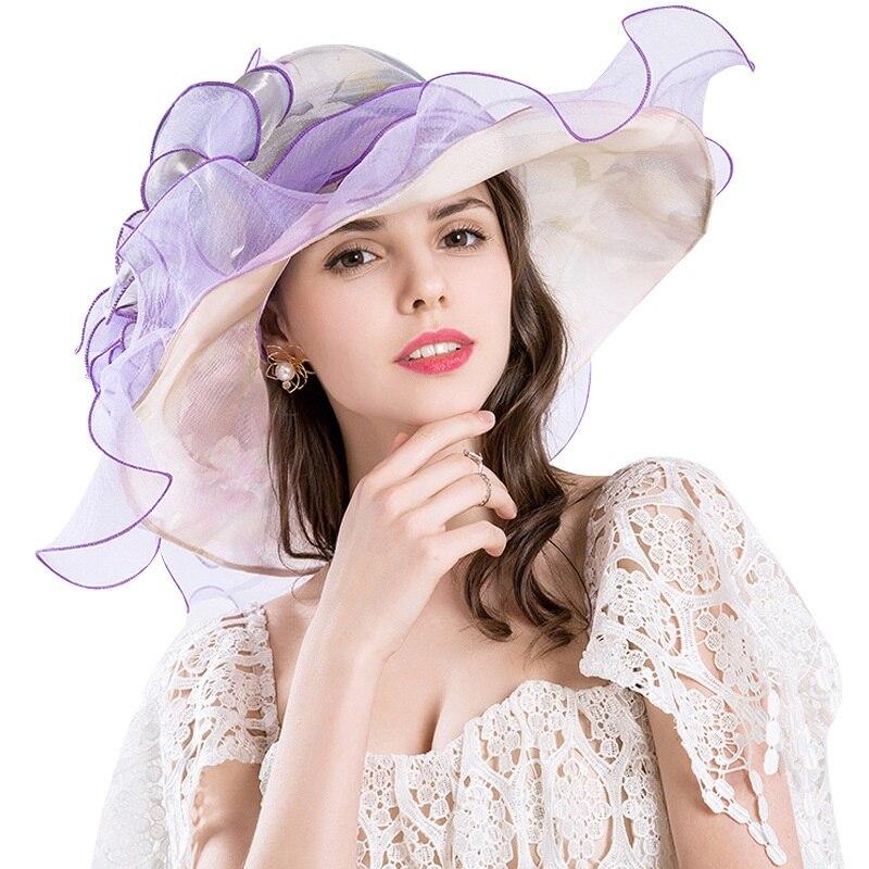 Printemps et l'été chaud de femmes chapeaux d'été protection uv Europe et Amérique dames grande fleur de mode chapeaux en maille grand chapeau MZ-12