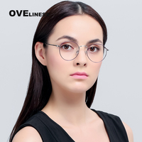 Classic Glasses computer prescription eyewear frame Gold round metal frame optical glasses small nerd clear lens spectacles