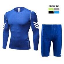 Men Boy Swim Top T Shirt Trunks Boxers Shorts Swimwear Short Pants SwimSuit Swimming Wear Long Sleeves for Beach Spa Pool vbvf