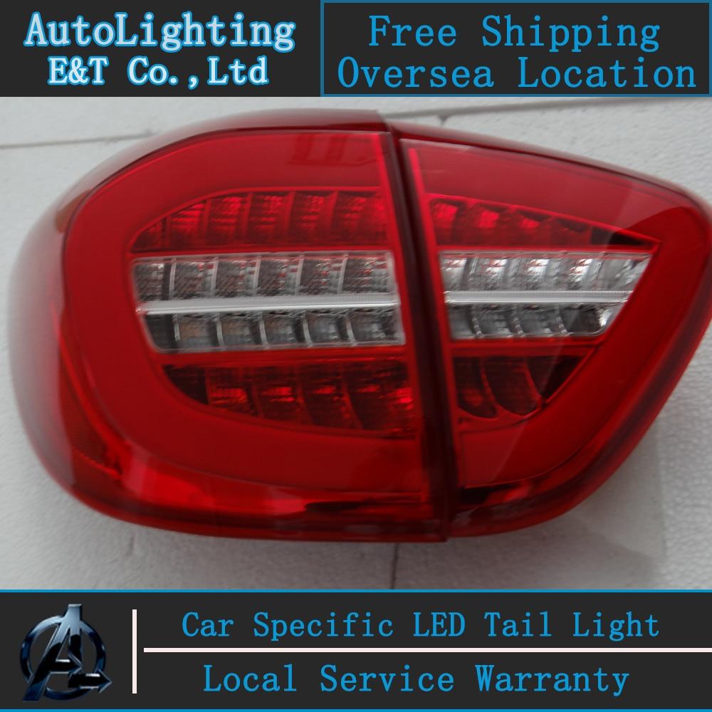 Стайлинга автомобилей для сборки Рено captur задний фонарь 13-15 Захва светодиодные задние фонари задний багажник крышка лампы ДРЛ+сигнал свет с 4шт.