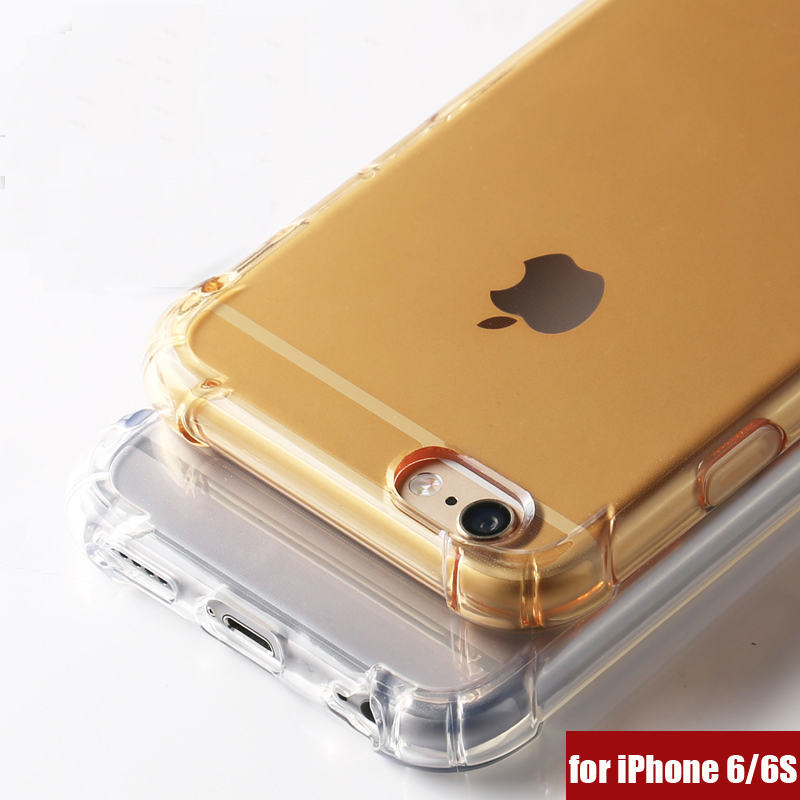 ITEUU 6 6S Plus TPU Soft Super Anti-Knock Estuche para iPhone 6 6S Plus Heavy Duty Cojín de aire a prueba de golpes Contraportada transparente