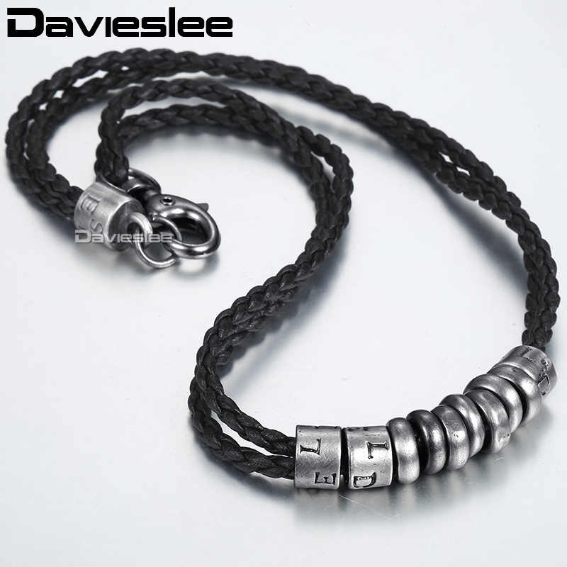 Metal Surfer Man Made Leather Rope Mens Necklace Chain Wholesale Fashion Gift Jewelry LP100