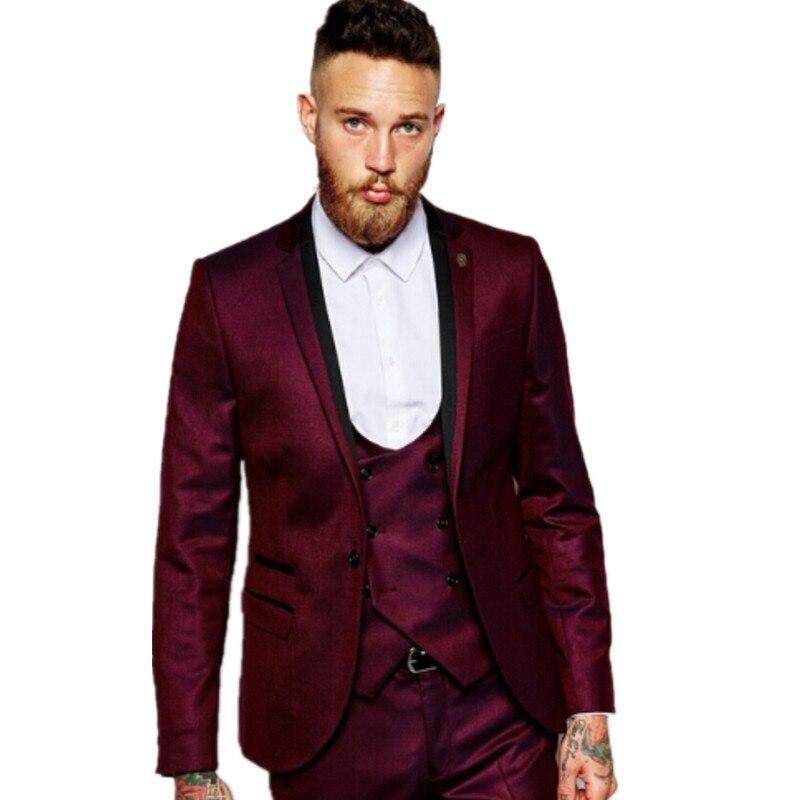 High Quality Dark Red Suit Men-Buy Cheap Dark Red Suit Men lots ...