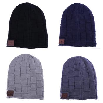 New wireless bluetooth headset hat knitted bluetooth cap headphone warm winter hats music player earphone best Christmas gift