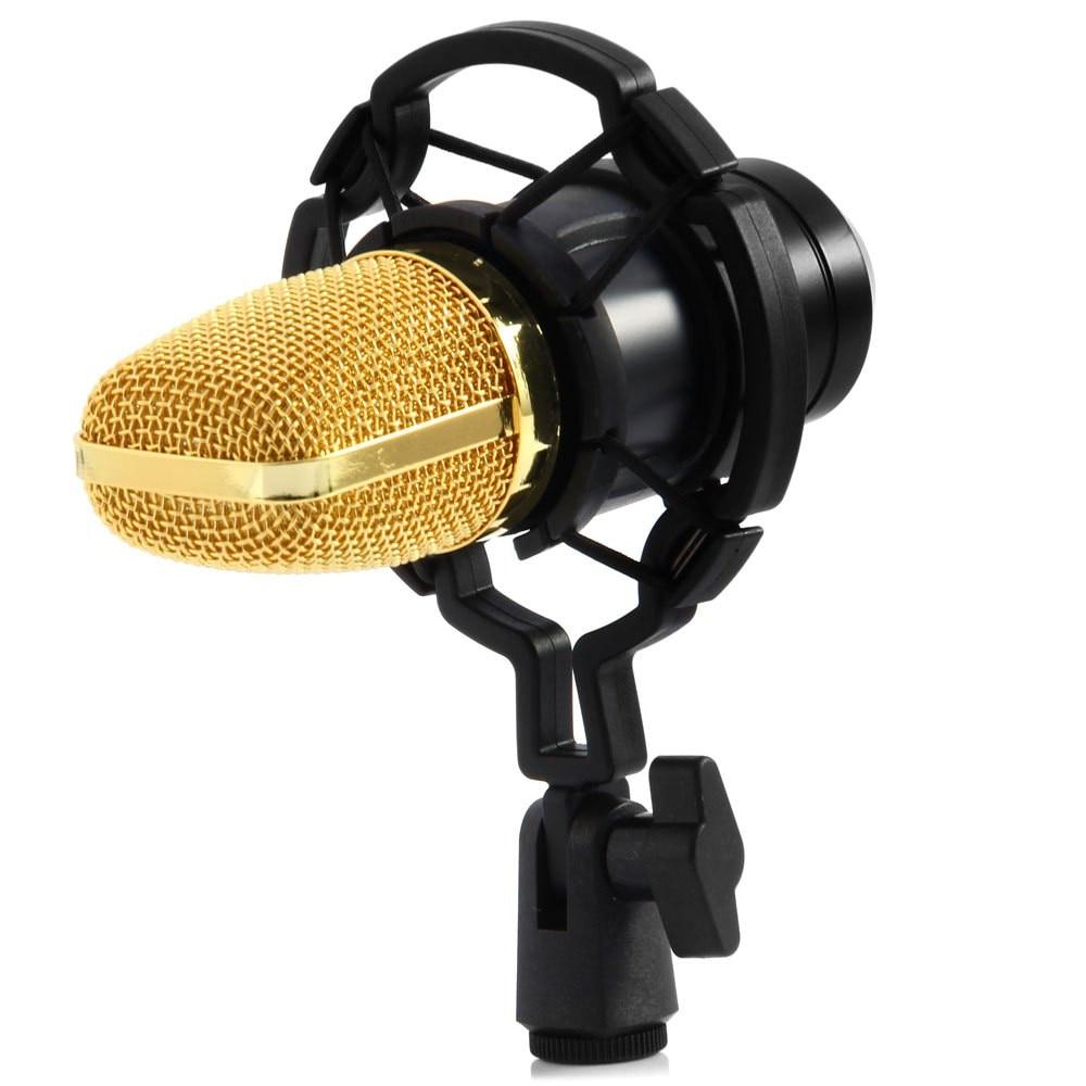 TGETH BM-700 Condenser KTV Microphone BM700 Cardioid Pro Audio Studio Vocal Recording Mic KTV Karaoke With Shock Mount