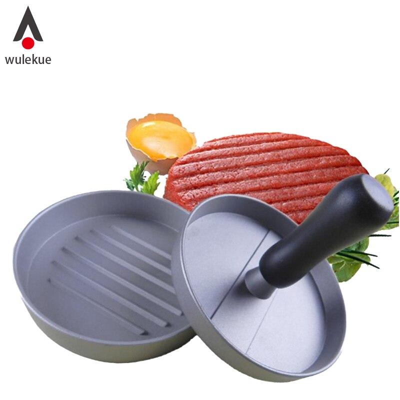 Wulekue 1 компл. алюминиевый сплав мясо гамбургера чайник Пресс Пластик ручка Кухня Инструменты