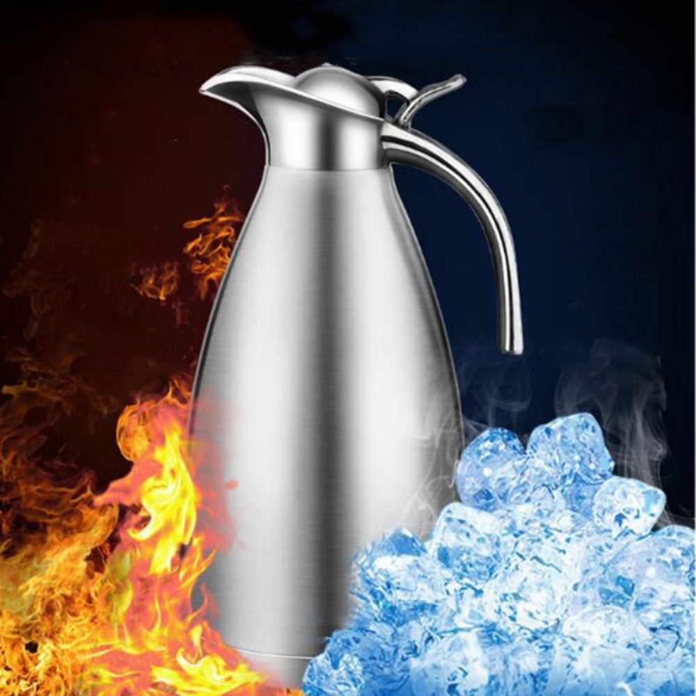 الأوروبية 2L فراغ العزل مزدوجة الجدار الفولاذ وعاء لتقديم القهوة من الفولاذ الحليب الشاي إبريق المياه دورق قارورة الحرارية الترمس زجاجات