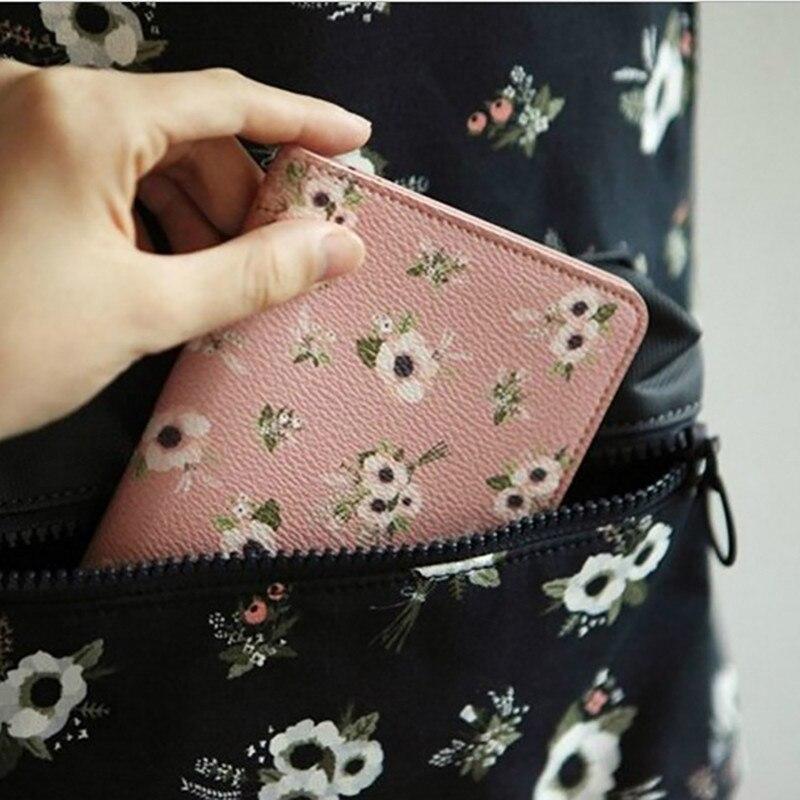 Animal / Plant Printing Short Travel Bags Cute Female Printing Short Bag Wallet Women Money Flower Print Passport Cover Case