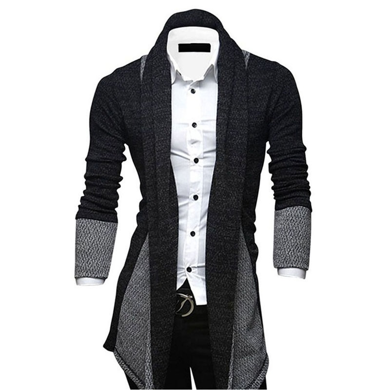 New Style 2019 Autumn & Spring Mens Cardigan Sweaters Slim Personality Long Business Gentleman (ONLY Sweater Included)