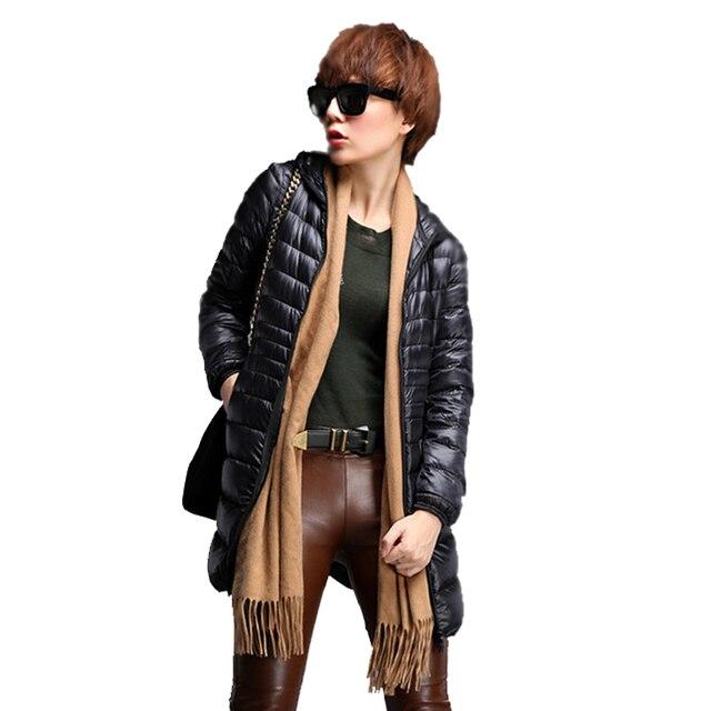 Hot Sale 2018 Baru Musim Dingin Jaket Wanita Mantel Slim Bawah Parkas Wanita  Bebek Mantel Luar c2d725a151