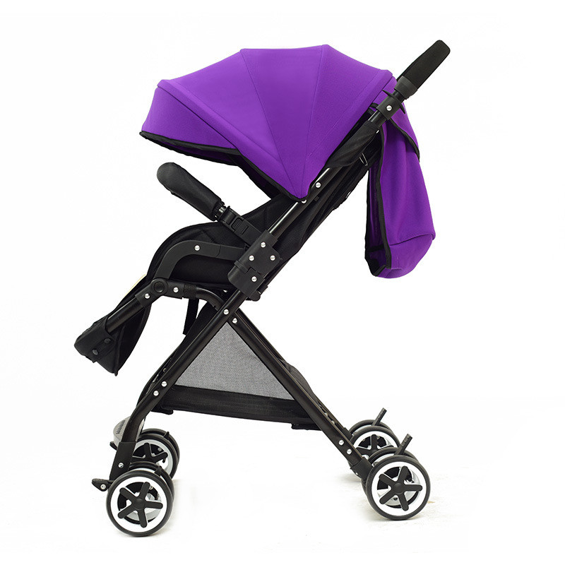 Tout nouveau haut paysage Ultra léger et Portable pliant bébé poussette Newbore quatre roues chariot grand bébé panier de couchage 0-6 ans