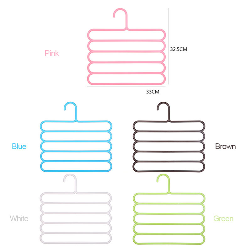 Image 5 - Five layer drying racks multi functional innovative hanger multi storey scarf racks anti slip pants folder Dropshipping X-in Storage Holders & Racks from Home & Garden