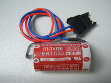 10pcs/lot NEW Maxell ER17/33 ER 17/33 3.6V 1600mah PLC industrial control lithium battery with plug