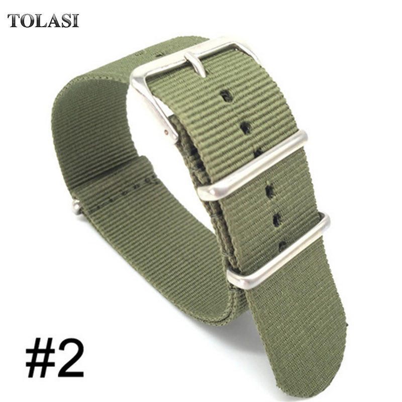 Retro Classic Watch 18mm 20mm 22 24mm bracelet Army Green Military nato fabric Woven Nylon watchband Strap Band Buckle belt 22mm 2018 new style nato strap 16mm watchband silver buckle army military nylon watch band bracelet for watch bracelet 16 mm