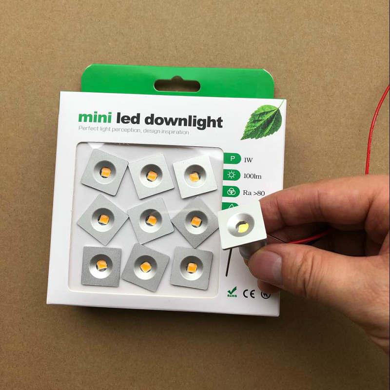 9pcs 1W Square IP65 Mini LED Downlight Outdoor Garden Bathroom Corridor Ceiling Spot Bulb Light Sauna Lighting CE