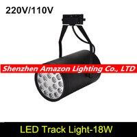 18w led track light spotlight business lamp boutique store/clothing shop/stage track lighting black/white 6pcs/lot