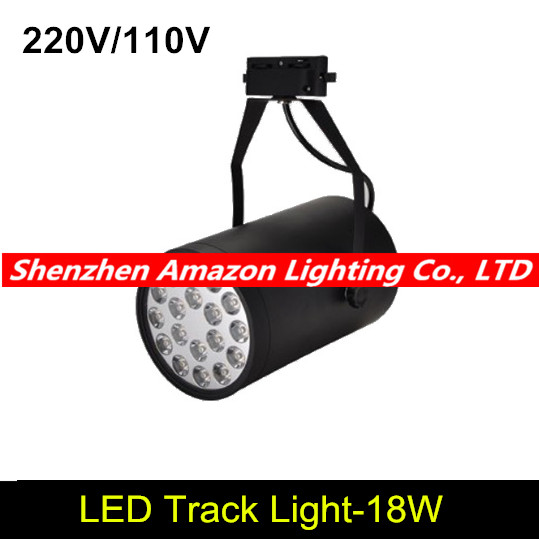 Us 152 4 18w Led Track Light Spotlight Business Lamp Boutique Clothing Stage Lighting Black White 6pcs Lot In From