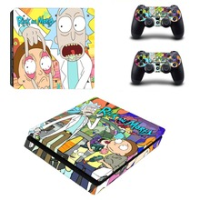 Anime Rick and Morty PS4 Slim Skin Sticker For Sony PlayStation 4 Console & Controllers PS4 Slim Skin Sticker Decal