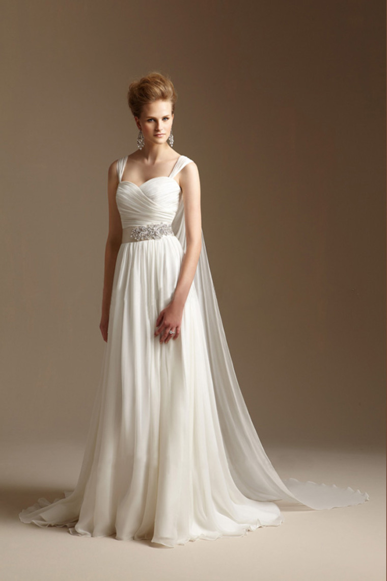 Popular grecian wedding dress buy cheap grecian wedding for Wedding dress with cape train