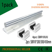 10 мм линейная направляющая 2 шт. SBR10 * 200/300/450 мм + 4 шт. SBR10UU линейная направляющая Стандартные блоки для линейного вала ЧПУ