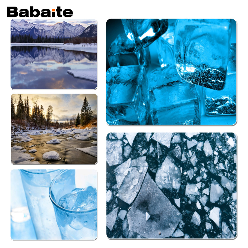 Babaite New Arrivals Ice Floe Laptop Computer Mousepad Size for 180x220x2mm and 250x290x2mm Small Mousepad