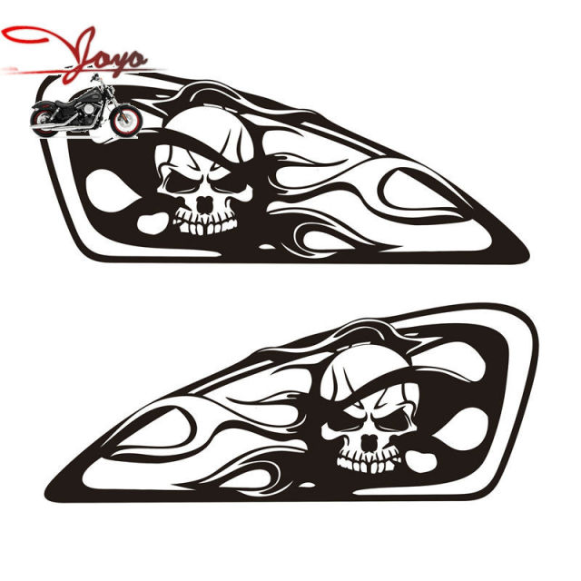 Brand new motorcycle skull flame design tank decal sticker for sportster nightster iron xl883 forty eight