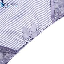 Lace Push Up Back Closure B Cup Lingerie Comfortable Cotton Brief Set