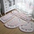Романтичный нескользящий ковер для ванной комнаты с цветами  супер мягкий коврик для гостиной  спальни  Прямоугольный Коврик в форме сердца...