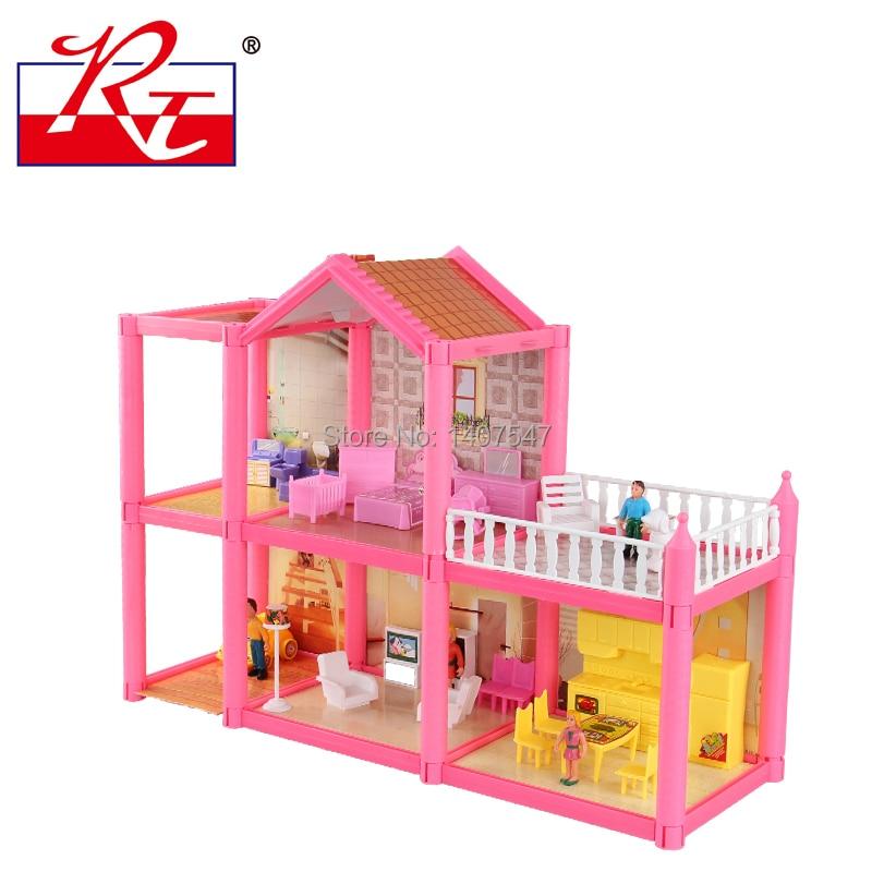 Nuovo Grande Formato Delle Bambole Fai Da Te Assemblare Villa Di