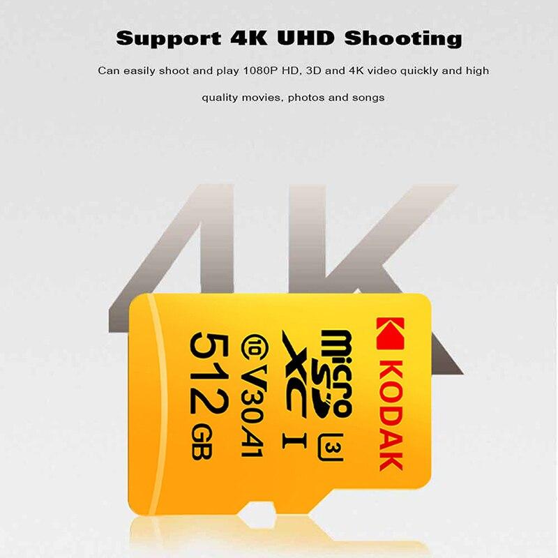 Original Kodak 512GB Micro SD card class 10 U3 4K High Speed   cartao de memoria Flash Memory Card 512gb mecard C10  グループ上の パソコン & オフィス からの Micro SDカード の中 2