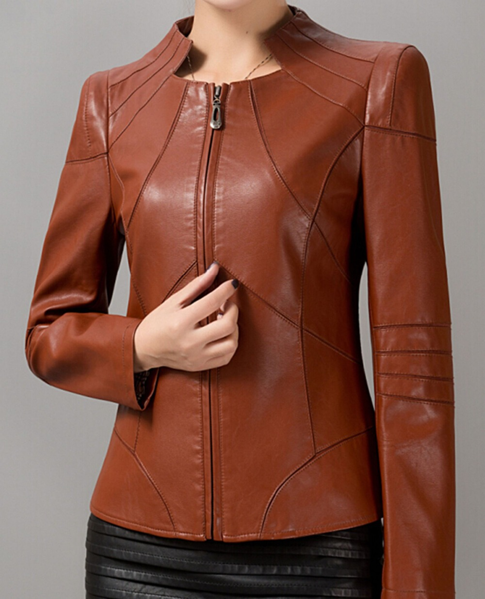 Images of Ladies Leather Coats - Reikian