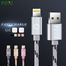 PZOZ Lighting Cable Fast Charger Adapter Original USB Cable For iphone 6 s plus i6 i5
