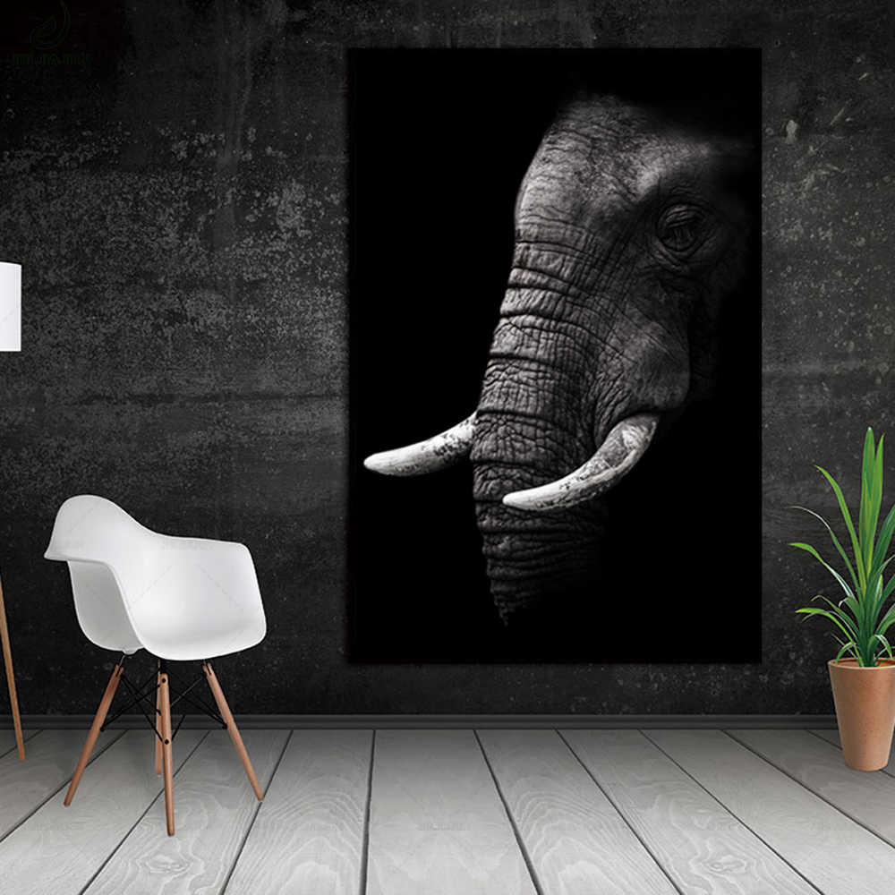 Animal black white elephant animal wall picture home painting Printed art, various indoor living room, hotel decorative painting