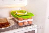 24 Grid Bilayer Egg Food Container Storage Box Keep Eggs Fresh Preservation Basket Organizer Kitchen Gadgets Items Supplies K401