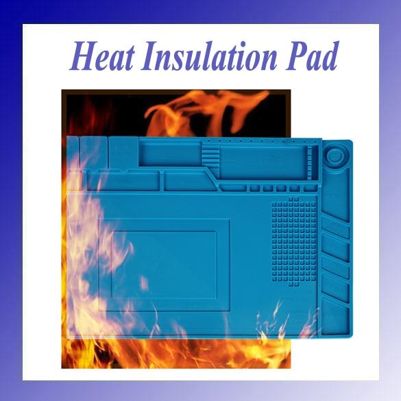 Heat-resistant Soldering Mat Silicone Heat Gun BGA Soldering Station Insulation Pad Repair Tools Maintenance Platform Desk Mat