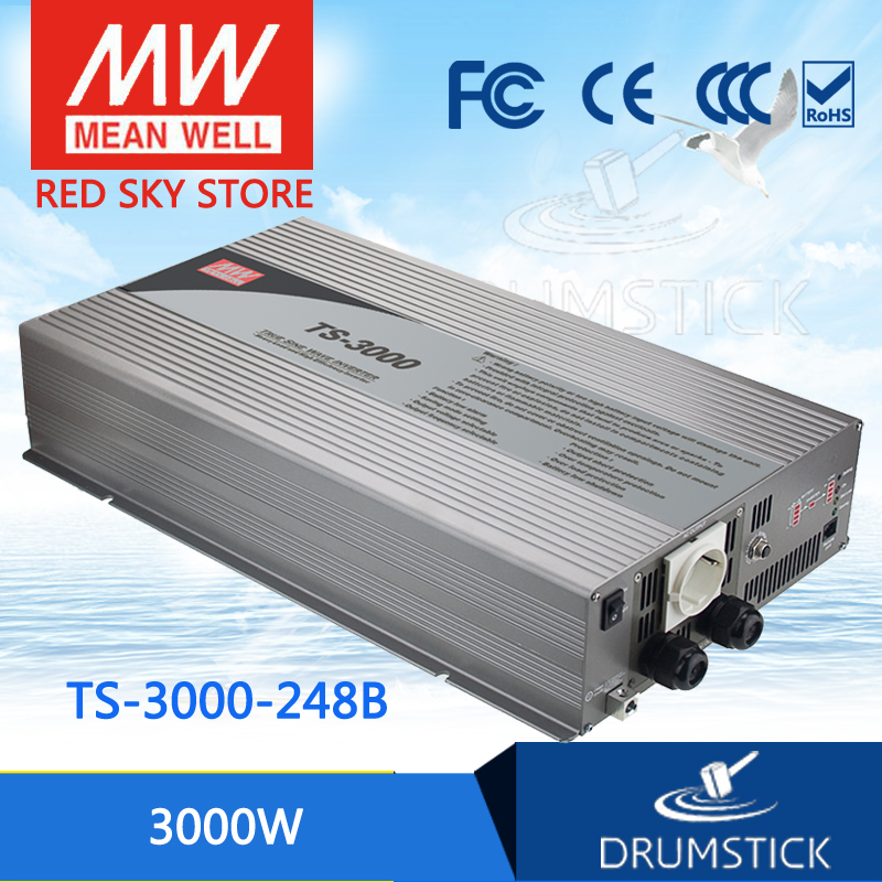 цена на Hot sale MEAN WELL TS-3000-248B EUROPE Standard 230V meanwell TS-3000 3000W True Sine Wave DC-AC Power Inverter