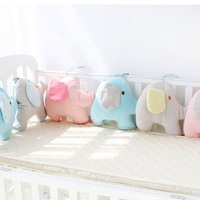 6pcs/set baby bumper crib protection cotton baby bed bumper sets for girls and boys