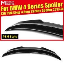 For BMW F36 4-Door 420i 428i 430i 440i 435i Rear Spoiler PSM Style Carbon Fiber Rear Trunk Spoiler Tail Wing car styling 2013-18 стоимость