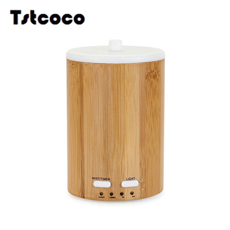 Tstcoco 150ml Wood grain cylinder steam humidifier diffusers home appliances aroma diffuser umidificador jy-018 flannel skidproof wood grain print rug