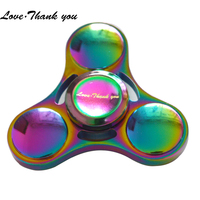 New Spinner Zinc Metal Fidget Spinner R188 Steel Bearing Tri Spinner For ADHD Autism Spinner 5