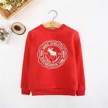 Children Winter Thick Sweatshirts Toddler Casual Sweater Kids Plus Velvet Tops Costume Baby Boys Girls Hoodies CLothes