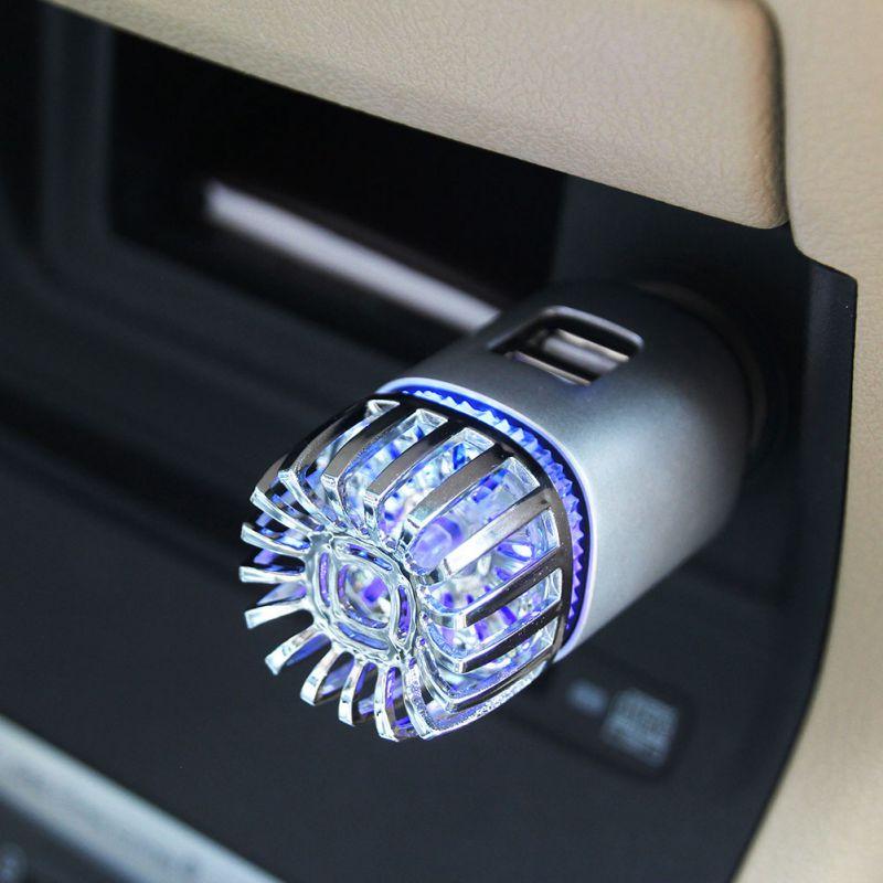 Car Vehicle Air Purifier Mini Auto Car Fresh Air Anion Ionic Purifier Oxygen Bar Ozone Ionizer Cleaner