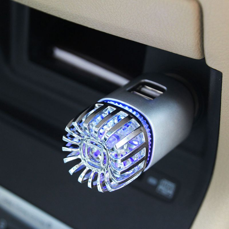 Car Vehicle Air Purifier Mini Auto Car Fresh Air Anion Ionic Purifier Oxygen Bar Ozone Ionizer Cleaner